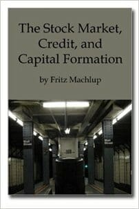 Stock Market Credit and Capital Formation
