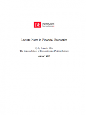 lecture notes in financial Economies