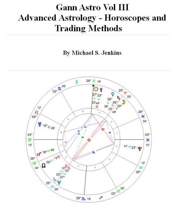 Gann Astro Vol III Advanced Astrology Horoscopes and Trading Methods