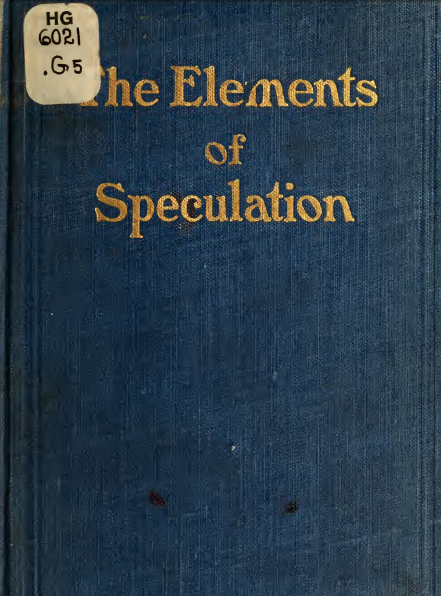 The elements of speculation