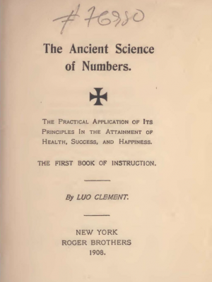 clement ancient science of numbers